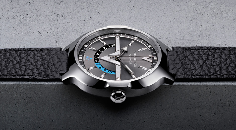 Presenting the Modern Fahsionable Louis Vuitton Voyager GMT Automatic Dual Time Zone Replica Watch