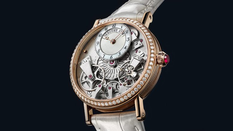 On the Wrist:Breguet Tradition Dame With Rose Gold Case Replica