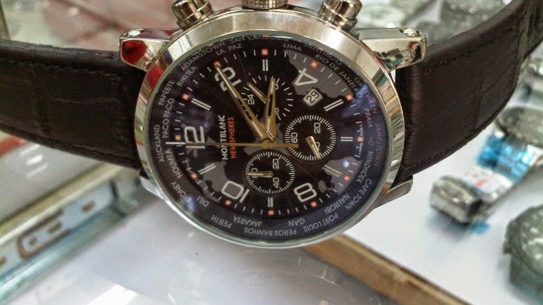 MontBlanc replica watches Soaring Several hours Chronograph Improved Yellow metal