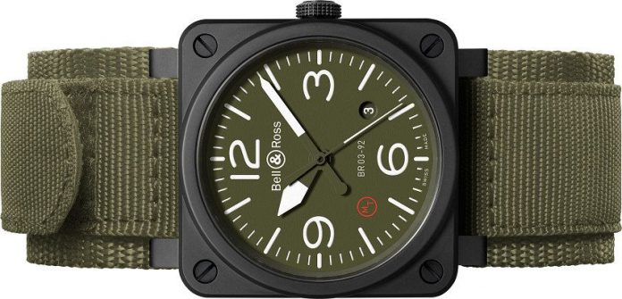 Presenting The Bell & Ross BR03-92 Ceramic Military Type With 42mm Case Replica